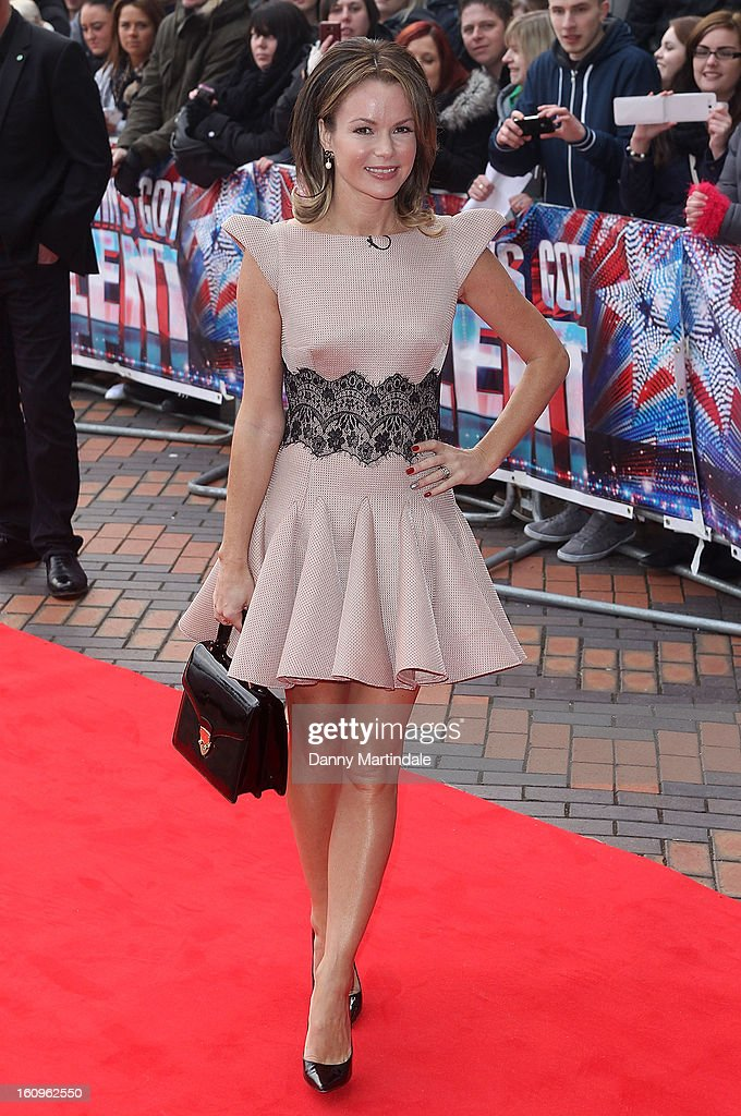 Amanda Holden arrives for the Birmingham auditions of Britain's Got Talent at The ICC on February 8, 2013 in Birmingham, England.