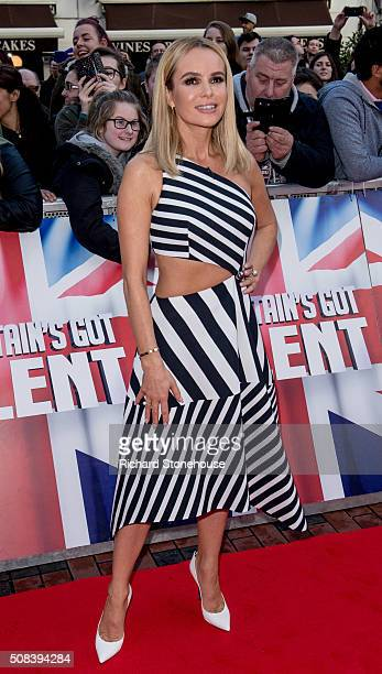 Amanda Holden arrives for the Birmingham audtions for Britain's Got Talent at Birmingham Hippodrome on February 4 2016 in Birmingham England