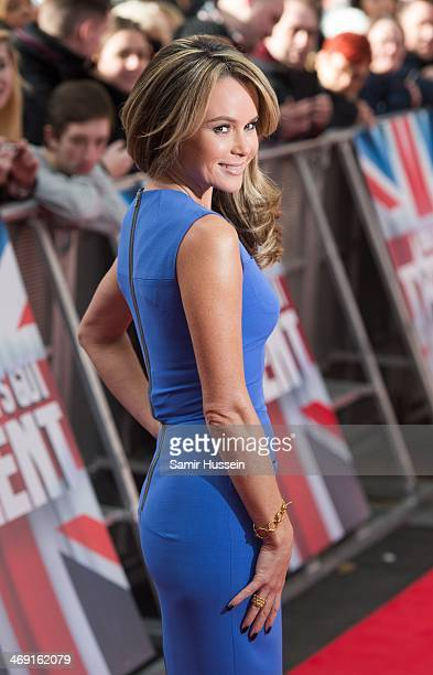 Amanda Holden arrives for the Britain's Got Talent London auditions at the Hammersmith Apollo on February 13 2014 in London England