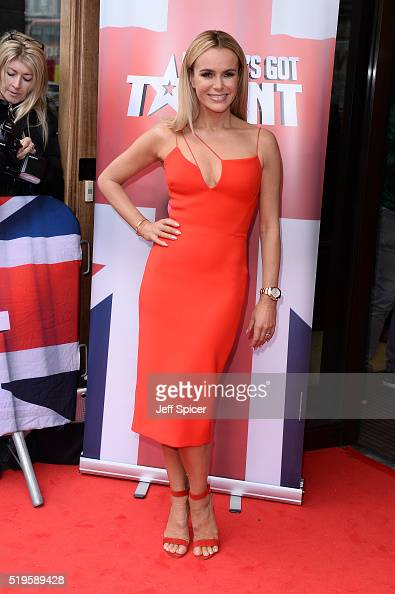 Amanda Holden arrives for the launch of Britain's Got Talent at Regent Street Cinema on April 7 2016 in London England
