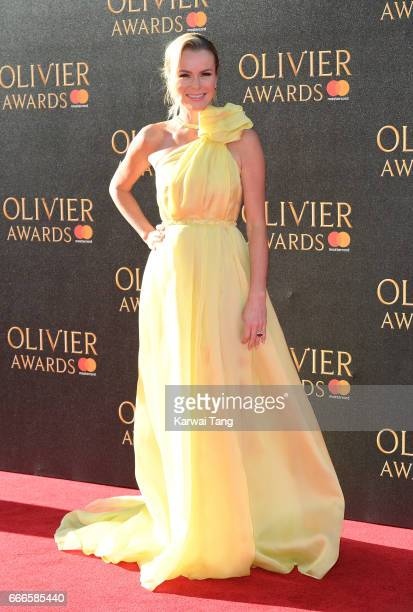 Amanda Holden arrives for The Olivier Awards 2017 at the Royal Albert Hall on April 9 2017 in London England