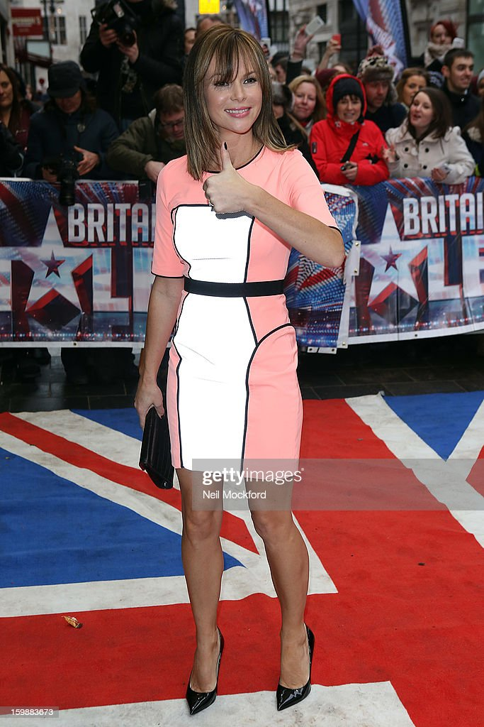 Amanda Holden arriving for 'Britain's Got Talent' London Auditions on January 31, 2013 in London, England.
