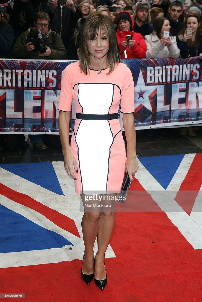 <a gi-track='captionPersonalityLinkClicked' href=/galleries/search?phrase=Amanda+Holden&family=editorial&specificpeople=202922 ng-click='$event.stopPropagation()'>Amanda Holden</a> arriving for 'Britain's Got Talent' London Auditions on January 31, 2013 in London, England.