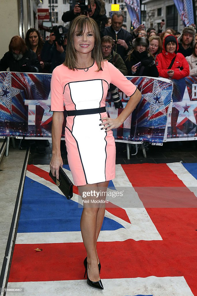 Amanda Holden arriving for 'Britain's Got Talent' London Auditions on January 22, 2013 in London, England.