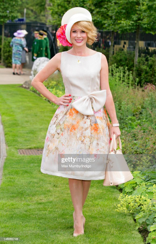 Amanda Holden attends day 1 of Royal Ascot at Ascot Racecourse on June 19, 2012 in Ascot, England.