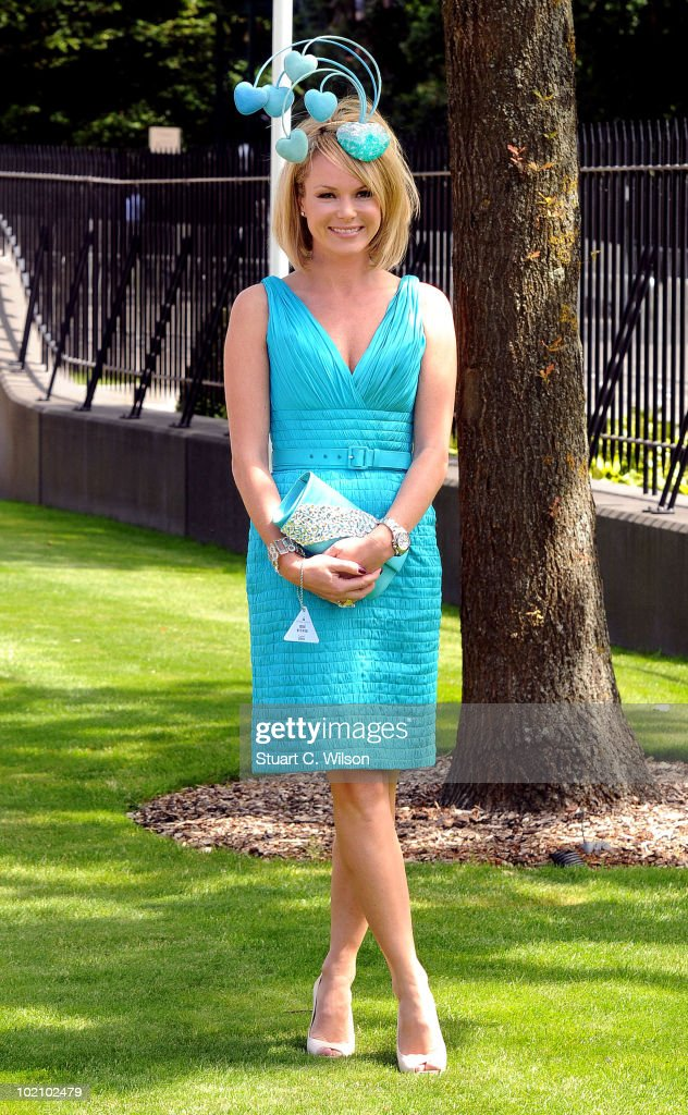 Amanda Holden attends Day One of Royal Ascot on June 15, 2010 in Ascot, England.