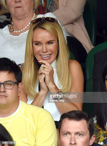 Amanda Holden attends day six of the Wimbledon Tennis Championships at Wimbledon on July 02 2016 in London England