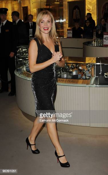 Amanda Holden attends photocall to open the annual Harrods Winter Sale at Harrods on December 26 2009 in London England