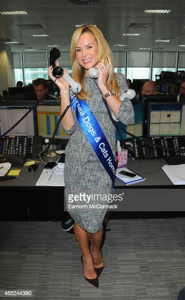 Amanda Holden attends the annual BGC Global Charity Day at BGC Partners on September 11 2014 in London England