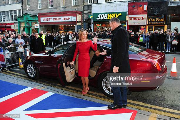 Amanda Holden attends the Edinburgh auditions for 'Britain's Got Talent' at Edinburgh Festival Theatre on January 19 2015 in Edinburgh Scotland