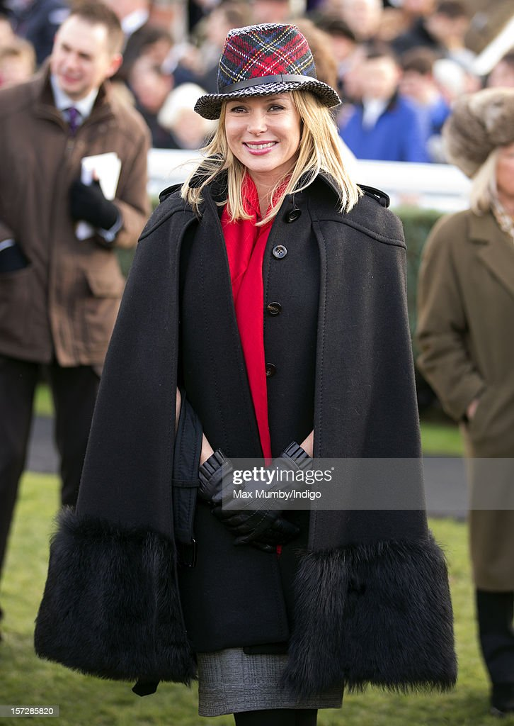 Amanda Holden attends the Hennessy Gold Cup at Newbury Racecourse on December 01, 2012 in Newbury, England.