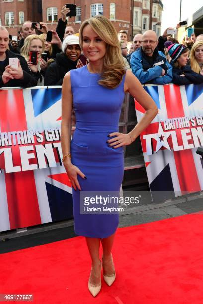 Amanda Holden attends the London Auditions of Britain's Got Talent at Hammersmith Apollo on February 13 2014 in London England