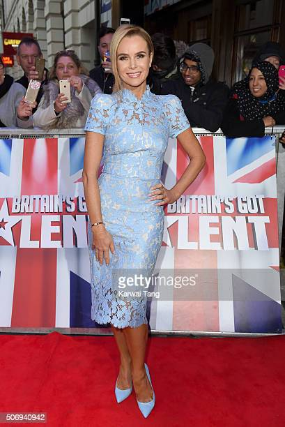 Amanda Holden attends the London auditions of 'Britain's Got Talent' at Dominion Theatre on January 26 2016 in London England