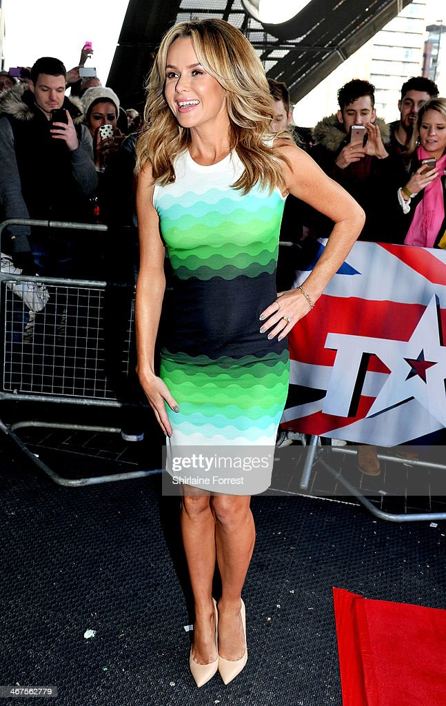 <a gi-track='captionPersonalityLinkClicked' href=/galleries/search?phrase=Amanda+Holden&family=editorial&specificpeople=202922 ng-click='$event.stopPropagation()'>Amanda Holden</a> attends the Manchester auditions for Britain's Got Talent at The Lowry on February 7, 2014 in Manchester, England.