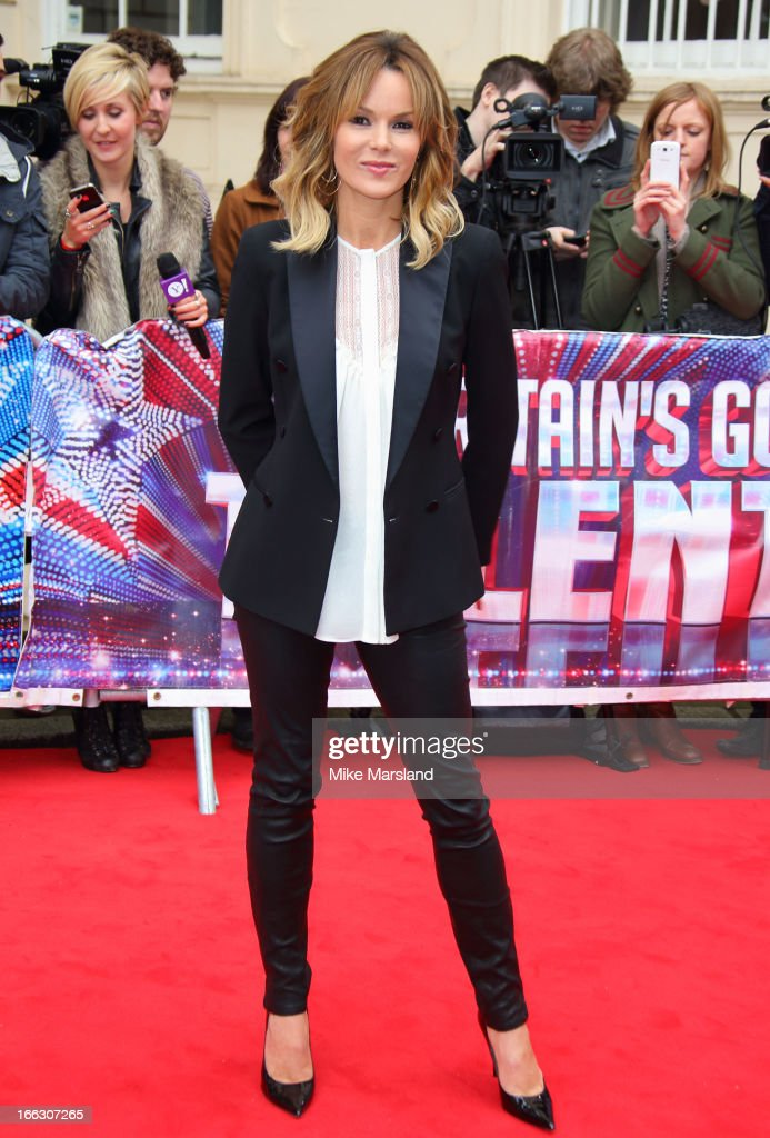 <a gi-track='captionPersonalityLinkClicked' href=/galleries/search?phrase=Amanda+Holden&family=editorial&specificpeople=202922 ng-click='$event.stopPropagation()'>Amanda Holden</a> attends the press launch for the new series of 'Britain's Got Talent' at ICA on April 11, 2013 in London, England.