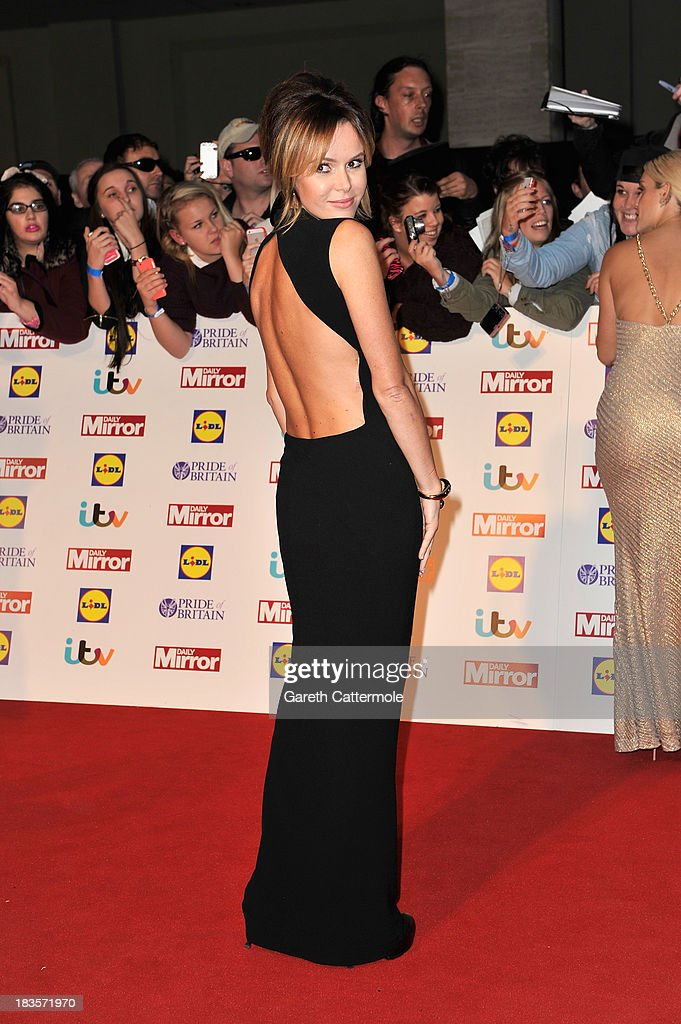 Amanda Holden attends the Pride of Britain awards at Grosvenor House on October 7, 2013 in London, England.