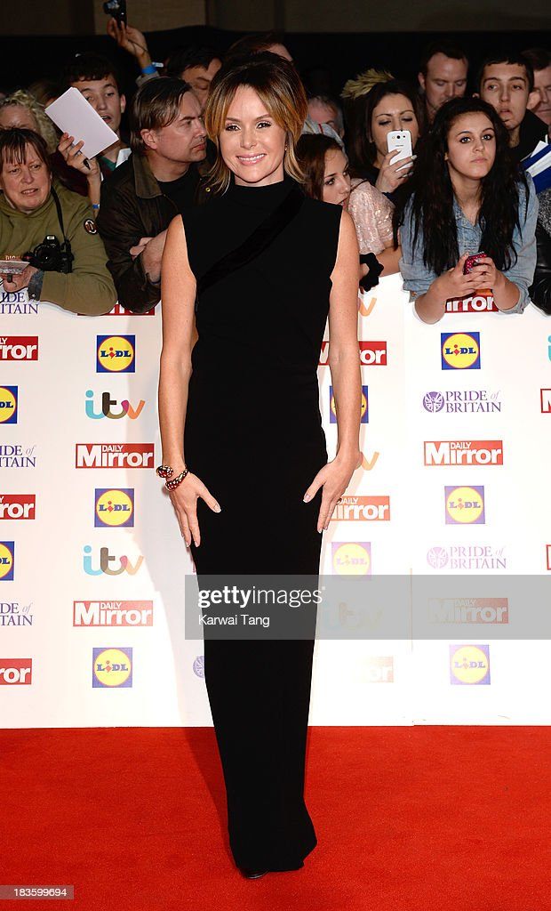 Amanda Holden attends the Pride of Britain awards at the Grosvenor House, on October 7, 2013 in London, England.