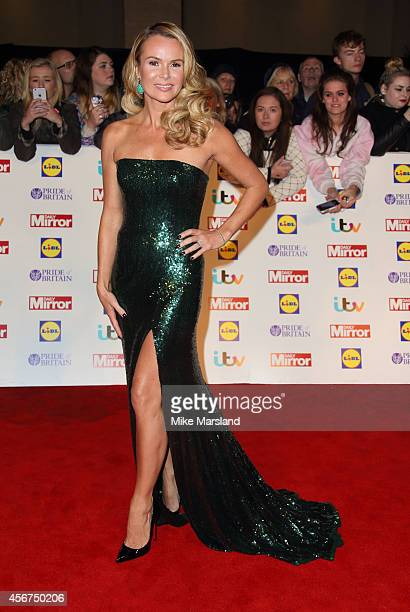 Amanda Holden attends the Pride of Britain awards at The Grosvenor House Hotel on October 6 2014 in London England