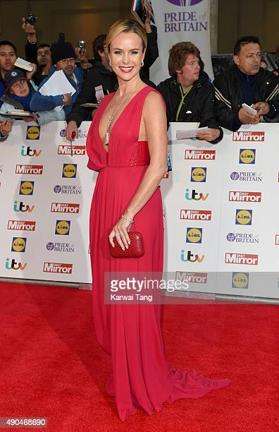 Amanda Holden attends the Pride of Britain awards at The Grosvenor House Hotel on September 28 2015 in London England