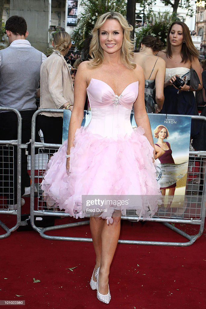 Amanda Holden attends the UK premiere of 'Sex and the City 2' at Odeon Leicester Square on May 27, 2010 in London, England.