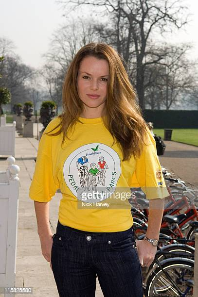 Amanda Holden during Pedal With The Parcs Photocall at The Orangery in London United Kingdom