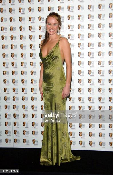 Amanda Holden during The 2006 British Academy Television Awards Press Room at Grosvenor House in London Great Britain