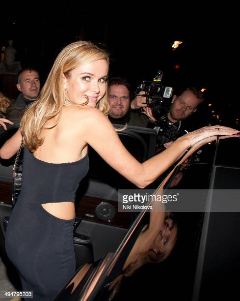 Amanda Holden is seen arriving the Chiltern Firehouse Marylebone on May 30 2014 in London England