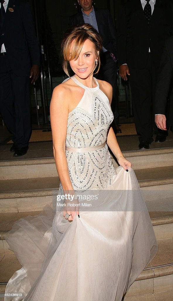 <a gi-track='captionPersonalityLinkClicked' href=/galleries/search?phrase=Amanda+Holden&family=editorial&specificpeople=202922 ng-click='$event.stopPropagation()'>Amanda Holden</a> leaving The Langham Hotel on November 28, 2013 in London, England.