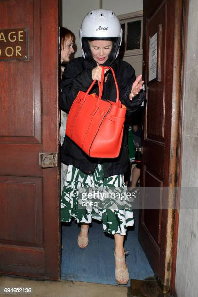 Amanda Holden leaving the Vaudeville theatre Covent Garden after a performance of Stepping Out on June 10 2017 in London England