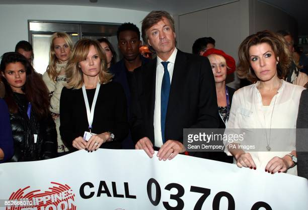 Amanda Holden Richard Madeley and Natasha Kaplinsky attend the Philippines Disaster Emergency Committee appeal at the BT Tower London