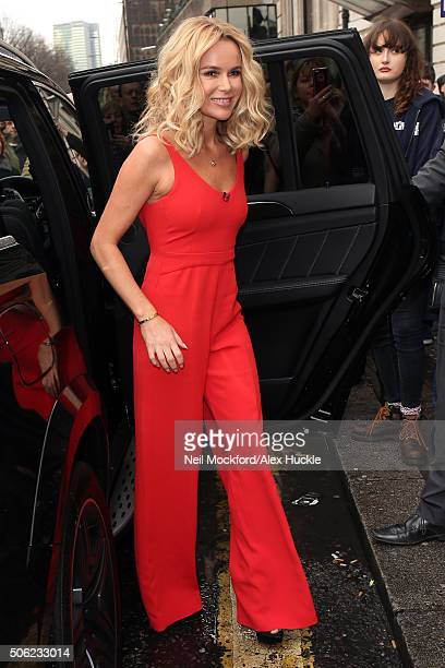 Amanda Holden seen arriving at the Britain's Got Talent London Auditions at The Dominion Theatre on January 22 2016 in London England