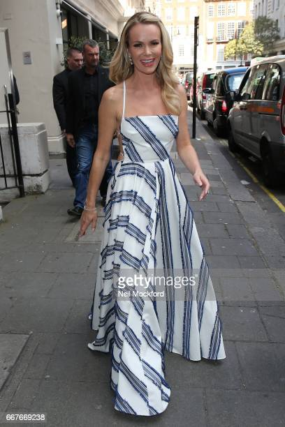 Amanda Holden seen at the May Fair Hotel on April 12 2017 in London England
