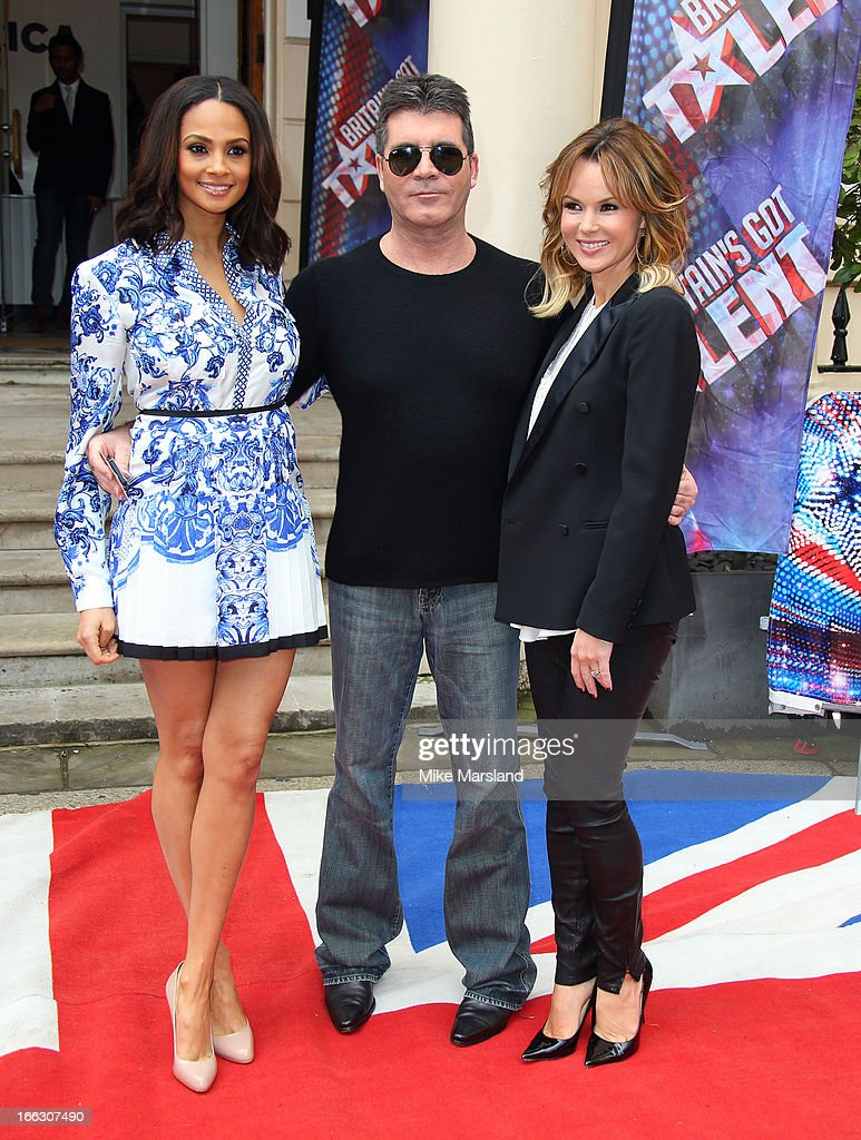 <a gi-track='captionPersonalityLinkClicked' href=/galleries/search?phrase=Amanda+Holden&family=editorial&specificpeople=202922 ng-click='$event.stopPropagation()'>Amanda Holden</a>; <a gi-track='captionPersonalityLinkClicked' href=/galleries/search?phrase=Simon+Cowell&family=editorial&specificpeople=203007 ng-click='$event.stopPropagation()'>Simon Cowell</a> and <a gi-track='captionPersonalityLinkClicked' href=/galleries/search?phrase=Alesha+Dixon&family=editorial&specificpeople=220622 ng-click='$event.stopPropagation()'>Alesha Dixon</a> attend the press launch for the new series of 'Britain's Got Talent' at ICA on April 11, 2013 in London, England.