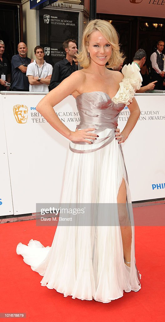 Amanda Holdon arrives at the Philips British Academy Television Awards at the London Palladium on June 6, 2010 in London, England.
