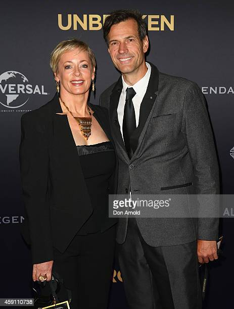Amanda Keller and Brendan Jones arrive at the world premiere of Unbroken at State Theatre on November 17 2014 in Sydney Australia