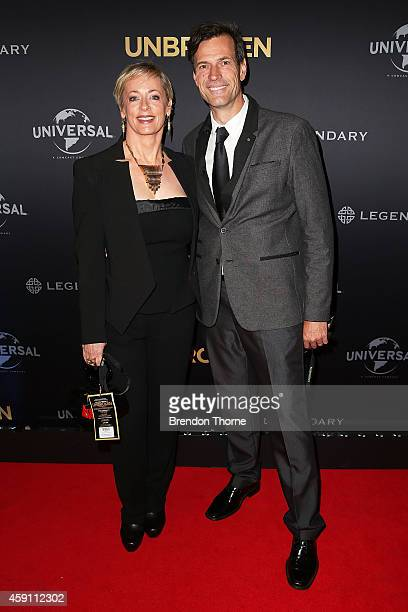 Amanda Keller and Brendan Jones arrive at the world premiere of Unbroken at the State Theatre on November 17 2014 in Sydney Australia