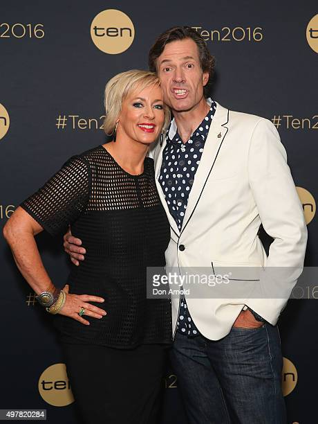 Amanda Keller and Brendan Jones pose at The Star during the Network 10 Content Plan 2016 event on November 19 2015 in Sydney Australia