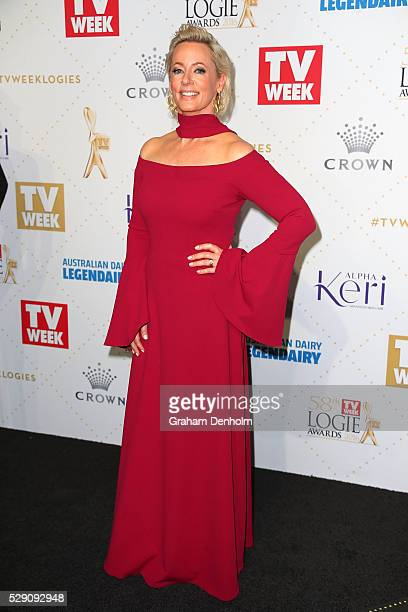 Amanda Keller arrives at the 58th Annual Logie Awards at Crown Palladium on May 8 2016 in Melbourne Australia
