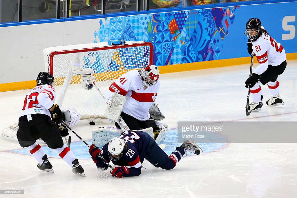 <a gi-track='captionPersonalityLinkClicked' href=/galleries/search?phrase=Amanda+Kessel&family=editorial&specificpeople=9030355 ng-click='$event.stopPropagation()'>Amanda Kessel</a> #28 of United States scores her team's eigth goal during the Women's Ice Hockey Preliminary Round Group A game on day three of the Sochi 2014 Winter Olympics at Shayba Arena on February 10, 2014 in Sochi, Russia.