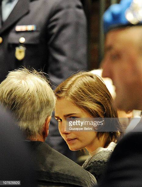 Amanda Knox attends her appeal hearing over the guilty verdict in the murder of Meredith Kercher on December 11 2010 in Perugia Italy Amanda knox and...