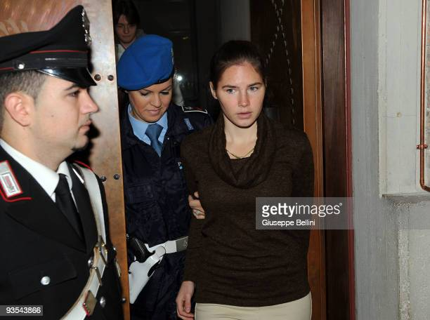 Amanda Knox attends the Meredith Kercher Trial for the closing arguments at the courthouse on December 2 2009 in Perugia Italy Amanda Knox and her...