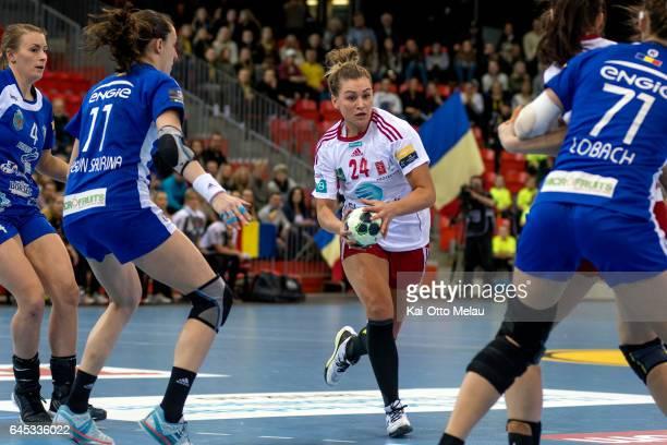 Amanda Kurtovic in the Women's EHF Champions league match between Larvik HK and CSM Bucuresti on February 25 2017 in Larvik Norway