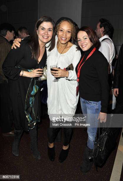 Amanda Lamb Angela Griffin and Sarah Cawood in the Tapis Rouge bar during the opening night of Varekai by the Cirque Du Soleil at Royal Albert Hall...