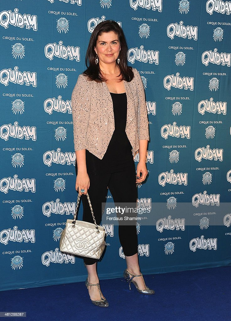 Amanda Lamb attends the VIP night for Cirque Du Soleil: Quidam at Royal Albert Hall on January 7, 2014 in London, England.