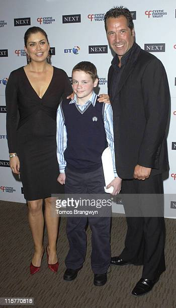 Amanda Lamb Matthew McGuiness and David Seaman during Cystic Fibrosis Trust Breathing Life Awards Press Room at Royal Lancaster Hotel in London Great...