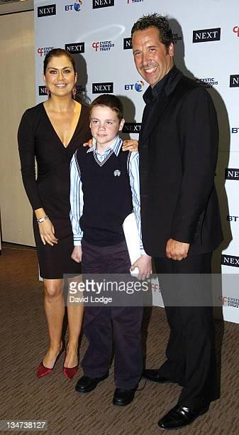 Amanda Lamb Matthew McGuinness and David Seaman during Cystic Fibrosis Trust Breathing Life Awards Press Room at Royal Lancaster Hotel in London...