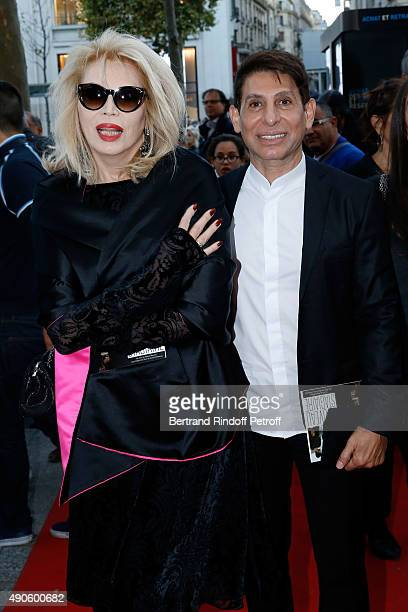 Amanda Lear and Jacques Dermi attend the 'Le nouveau Stagiare' movie Premiere to Benefit 'Claude Pompidou Foundation' held at Cinema 'UGC Normandie'...
