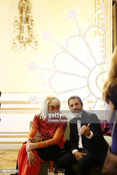 Amanda Lear attends for the Children for Peace Gala Dinner at Cardinal Gallery on December 2 2017 in Rome Italy