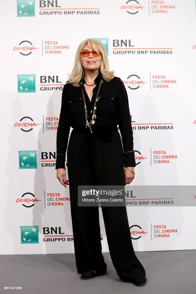 Amanda Lear attends 'Metti Una Notte' photocall during the 12th Rome Film Fest at Auditorium Parco Della Musica on October 28, 2017 in Rome, Italy.