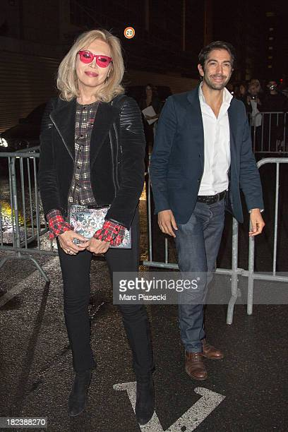 Amanda Lear attends the 'Givenchy' show as part of the Paris fashion week Womenswear 2014 at the Halle Freyssinet on September 29 2013 in Paris France